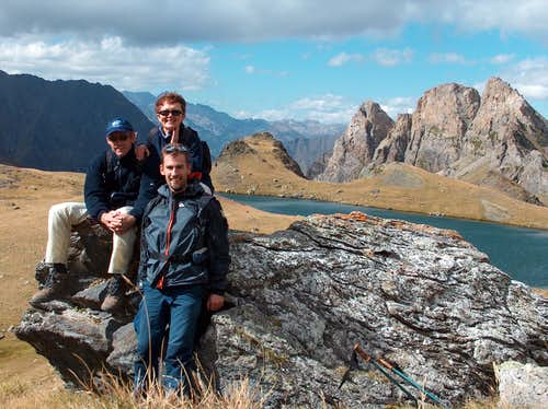 Hiking with my parents, 2004