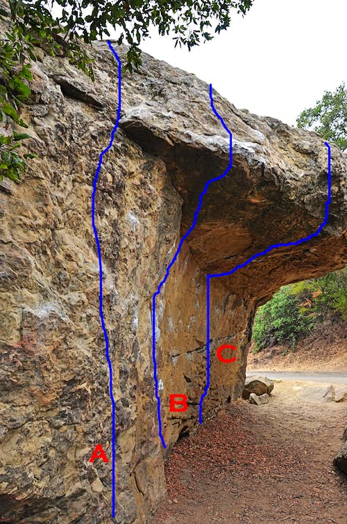 Routes of Hallway Boulder