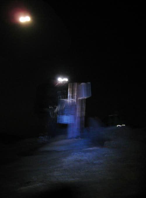 Mount Adams at night