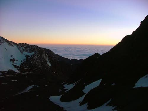 Sunset from Base Camp.