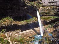 The upper Pericnik waterfall...