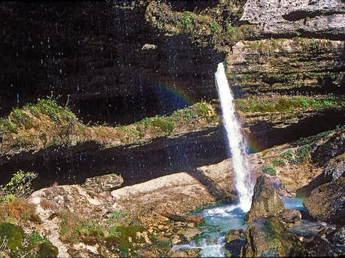 The upper Pericnik waterfall...