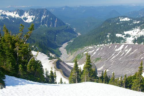 Nisqually River from Muir Snowfield