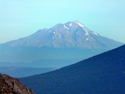 Mt. Shasta, 14,162' from Reading Peak, 8,714'  in Lassen National Park