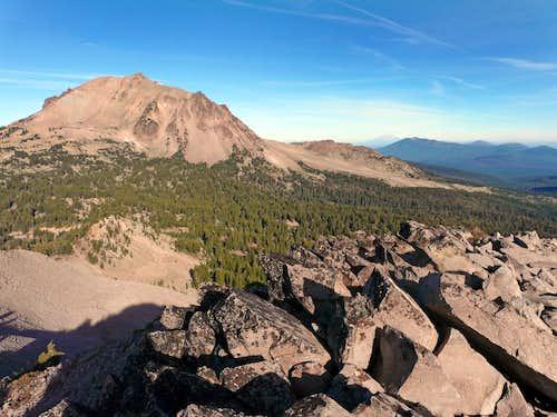 Lassen Peak, 10,457' from Reading Peak, 8,714' to the east