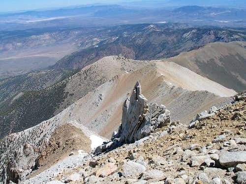From the summit you can look...