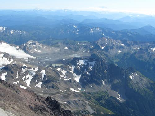 Typical glacier moraine