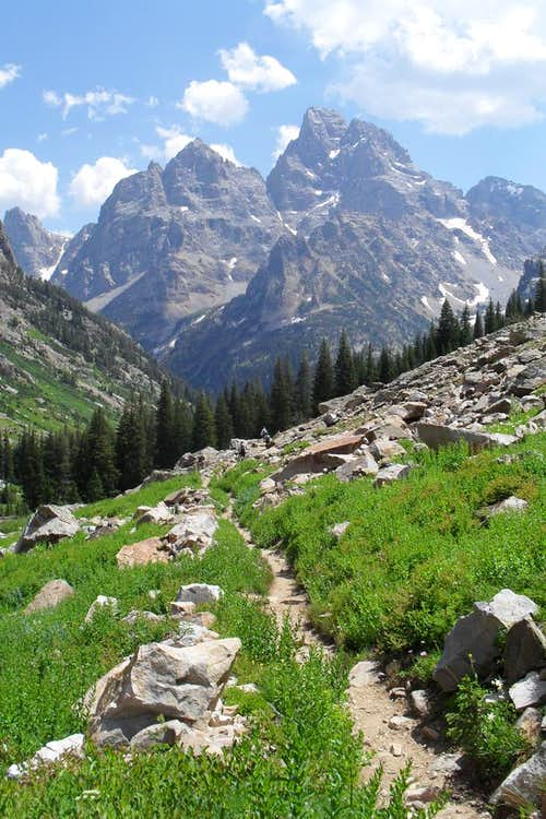 The Grand and Mt Owen from North Fork Cascade Canyon