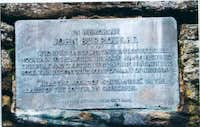 Plaque at slide mountain....