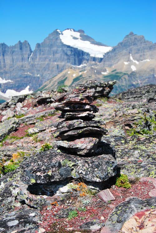 cairn and Mount Merritt
