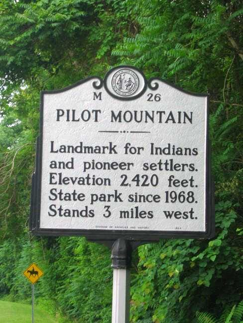 Historical marker near the...
