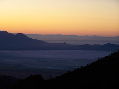Sunrise over the Salt Flats