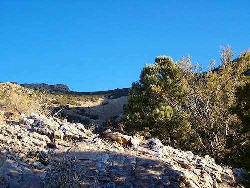 Talus Field on the way up Pilot Peak