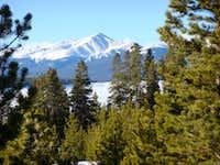 Mt. Elbert & Frozen Turquoise Lake