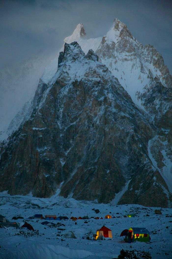 Camping at Baltoro Glacier