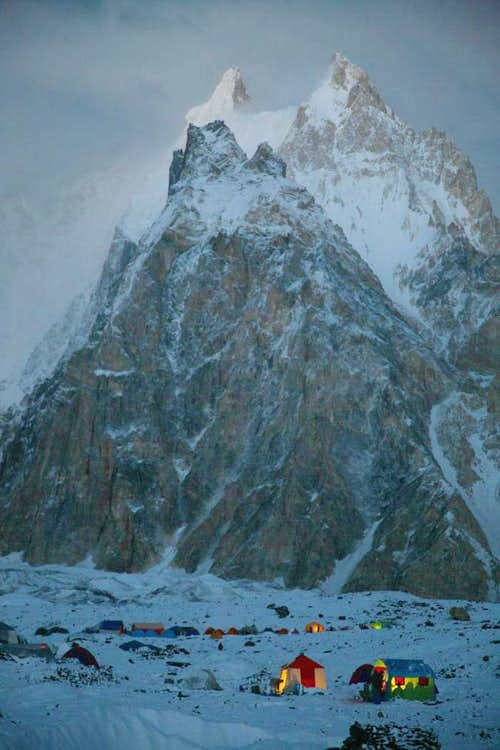 Camping at Baltoro Glacier