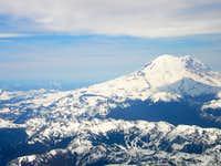 Mount Rainier from the plane.