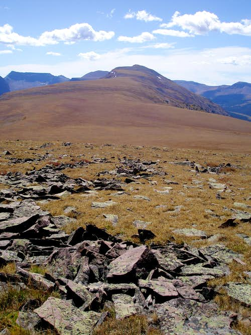 North ridge of Moose Peak