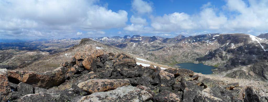Beartooth Range from Lonesome Mountain
