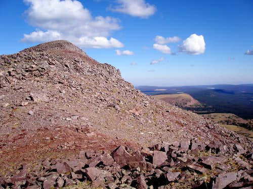 False summit of Moose Peak