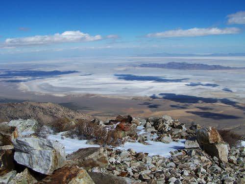 View NE on the Salt Flats