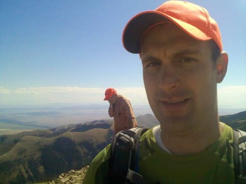 Spattski pic on Black Mountain with Dean Molen in background
