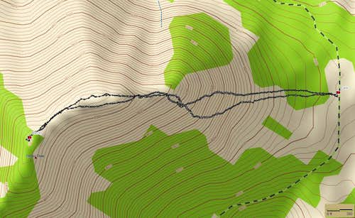 GPS Trace of Becky Peak