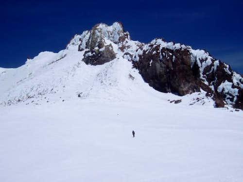 The summit of Mount Shasta...