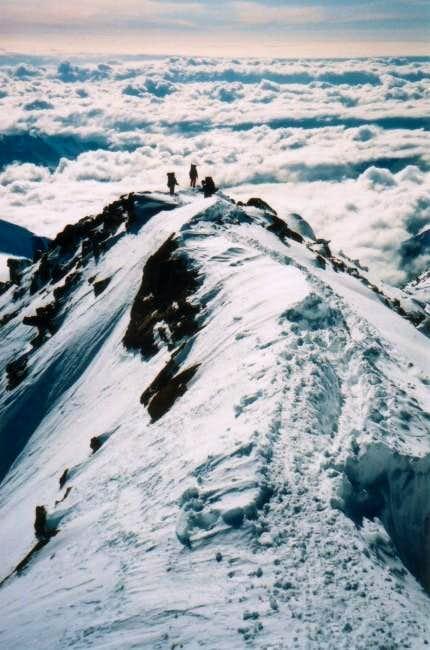 Climbers on the 16 Ridge May...