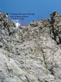 Bottom of the wide gully