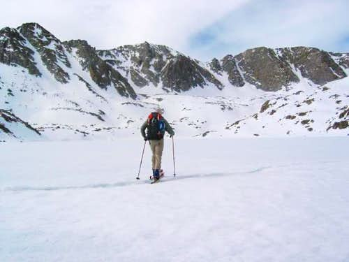 Skiing across upper Goethe...