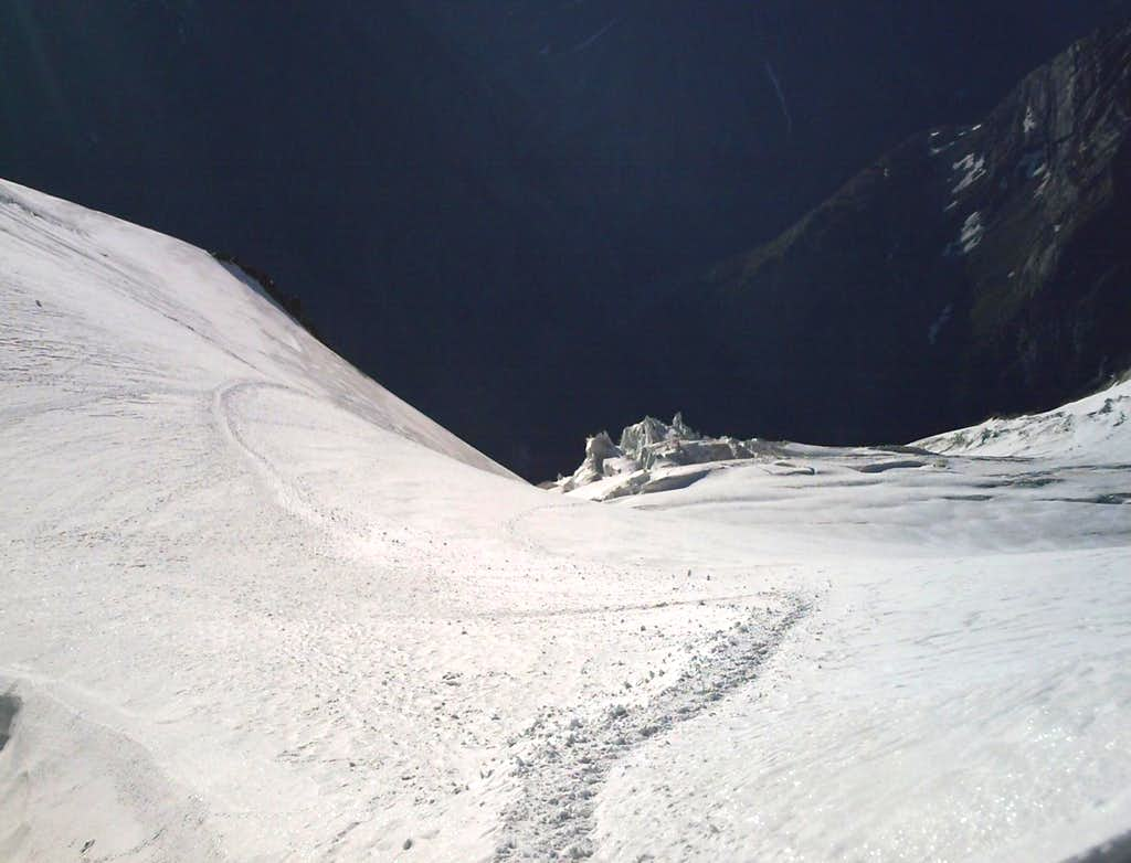 On Nadelhorn ascent