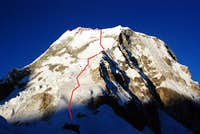 Ranrapalca, Northeast Face Route