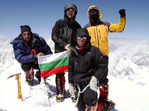 Bulgarian on the summit of Gasherbrum I 2009