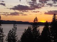 Sunset on Lake CDA