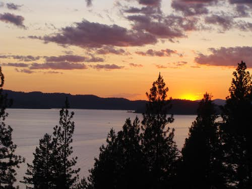 Sunset on Lake CDA