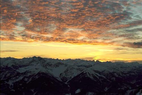 Sunset at Rotwand