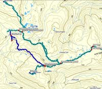 Mt Becher Routes Overview