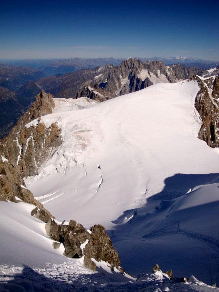 On the Col du Mont Maudit