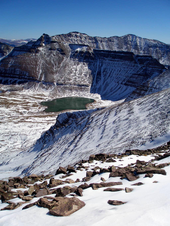 Henrys Fork Peak and Cliff Lake
