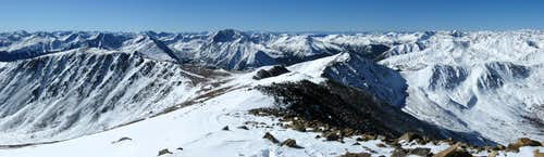 View to S from Summit of Mt. Elbert