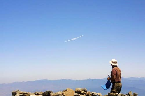 "A Glider ""buzzing"" the Summit..."