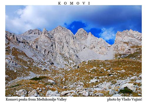 Komovi peaks from Medjukomlje Valley