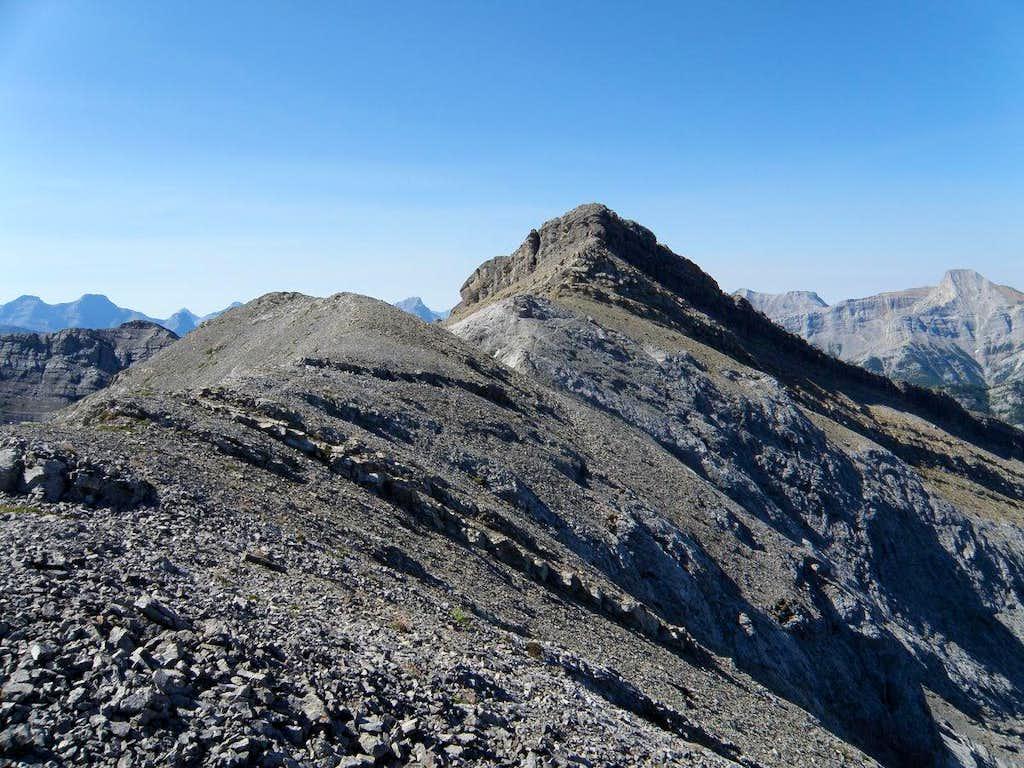 Goat mountain from North on Peak 3, Kananaskis