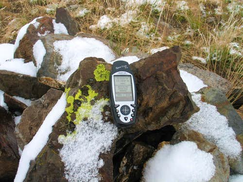 GPS at summit cairn