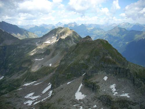 view of Mottone and Torrone Rosso from the summit