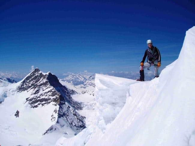 The summit of the Monch on...