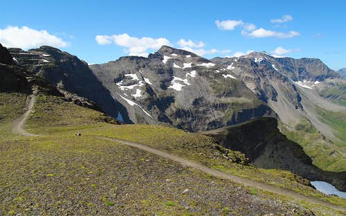 View to Schareck from the Geisselkopf trail