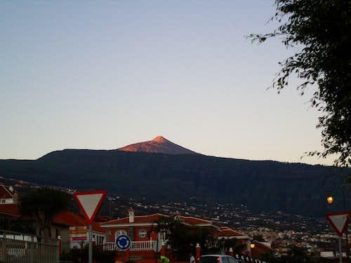 Red sunrise from La Orotava
