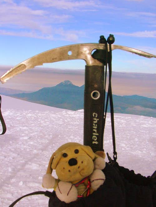 GT on Cotopaxi (5,897 m / 19,347 ft).